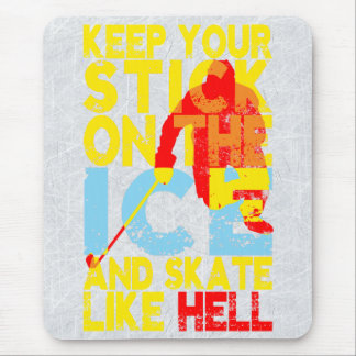 Hockey Stick On the Ice Mouse Pad