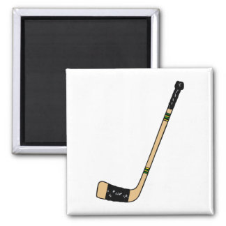 Hockey Stick Square Magnet