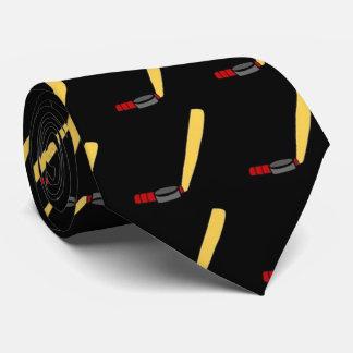 hockey stick,. tie