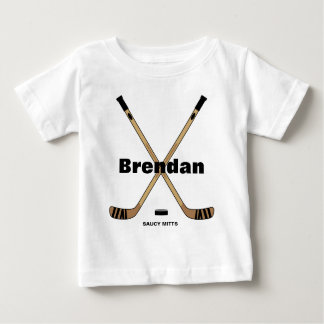 Hockey Sticks Baby Infant Personalized Baby T-Shirt