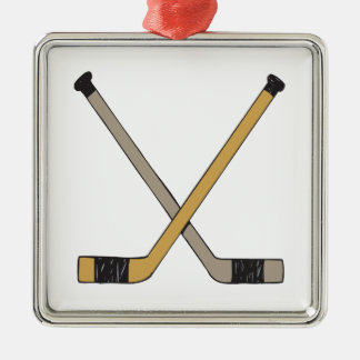 Hockey Sticks Christmas Ornament