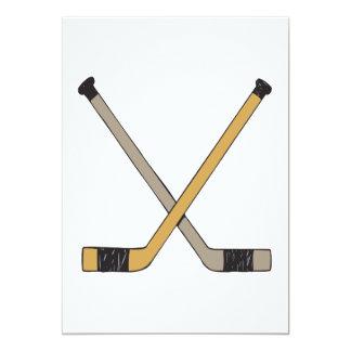 Hockey Sticks 13 Cm X 18 Cm Invitation Card
