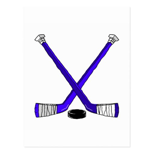 Hockey Sticks Post Card