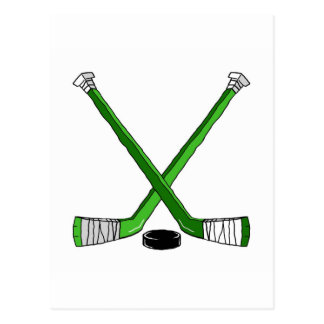 Hockey Sticks Postcard