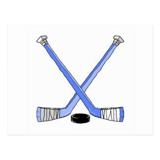 Hockey Sticks Postcard