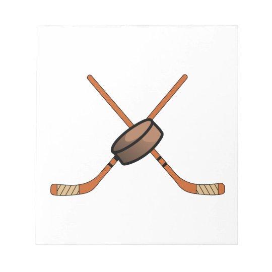 Hockey Sticks & Puck Notepad