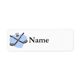 Hockey Sticks Return Address Label