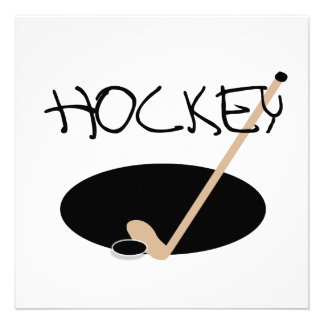 HOCKEY T-shirts and Gifts Custom Announcements