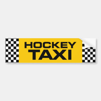Hockey Taxi Bumper Sticker