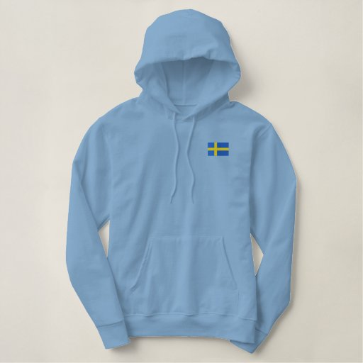 Hockey Team SWEDEN Swedish Sports Embroidered Hoodie
