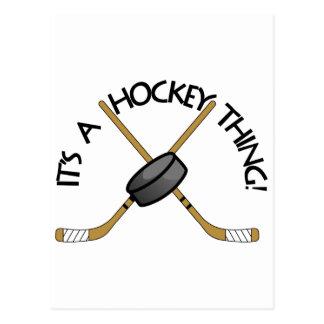 Hockey Thing Postcard