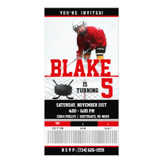 Hockey Ticket Invitation| BIRTHDAYS Card