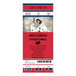 Hockey Ticket Wedding Invitation