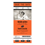 Hockey Ticket Wedding Save the Date