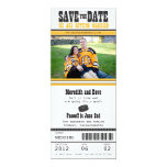Hockey Ticket Wedding Save the Date Personalised Invite
