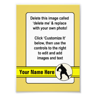 Hockey Trading Card Template Photograph