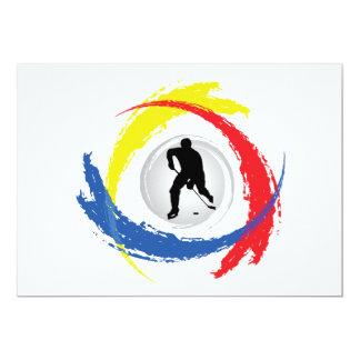 Hockey Tricolor Emblem 13 Cm X 18 Cm Invitation Card