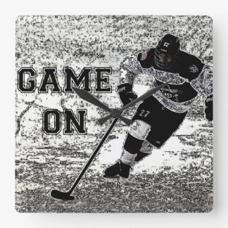 Hockey Wall Clock Personalised Custom