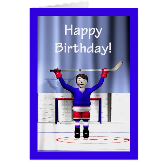 Hockey Winner Birthday Card