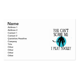 Hockey You Can't Scare Me T-shirts and Gifts Pack Of Standard Business Cards