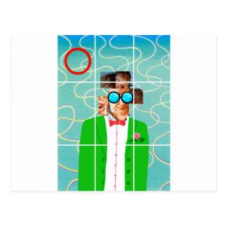 Hockney portrait postcard