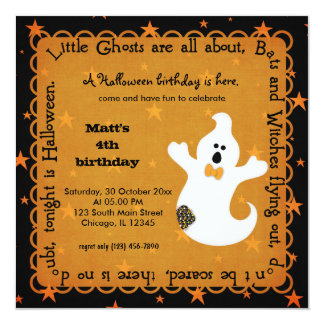 Hocus Pocus Ghost Birthday Card