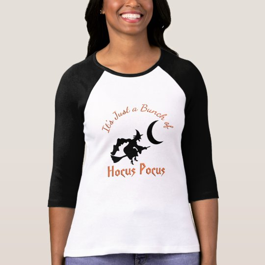 Hocus Pocus Halloween Flying Witch Black Orange T-Shirt