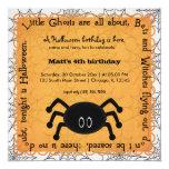 Hocus Pocus Spider Birthday 13 Cm X 13 Cm Square Invitation Card