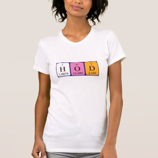 HoD periodic table word shirt