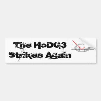 HoDG3 Strikes Sticker Car Bumper Sticker