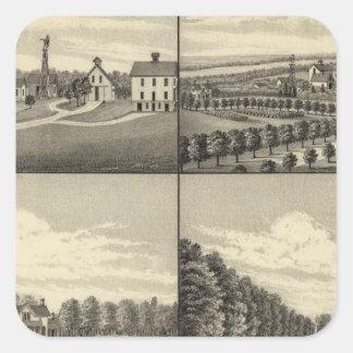 Hodges Home, Nebraska Square Sticker