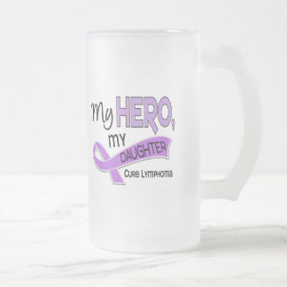 Hodgkin's Lymphoma MY HERO MY DAUGHTER 42 Frosted Glass Mug