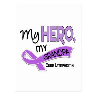 Hodgkin's Lymphoma MY HERO MY GRANDPA 42 Postcard