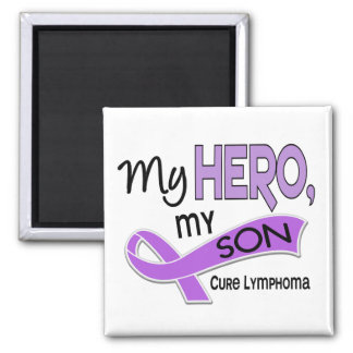 Hodgkin's Lymphoma MY HERO MY SON 42 Refrigerator Magnet