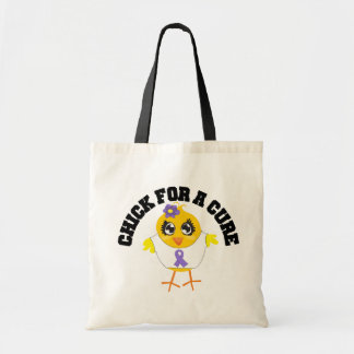 Hodgkins Disease Chick For A Cure Canvas Bags