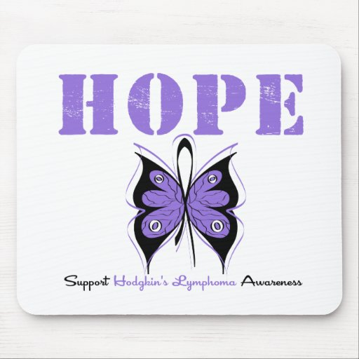 Hodgkin's Disease Hope Butterfly Mouse Pad
