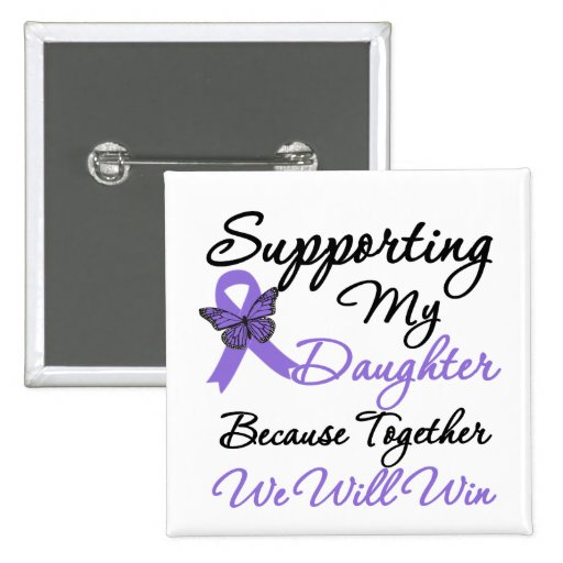 Hodgkin's Disease Supporting Daughter Pins