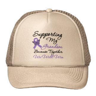Hodgkin's Disease Supporting Grandson Trucker Hat