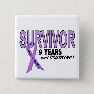 Hodgkins Lymphoma 9 Year Survivor 15 Cm Square Badge