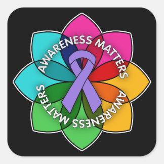 Hodgkin's Lymphoma Awareness Matters Petals Square Sticker