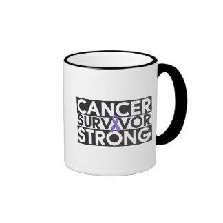 Hodgkins Lymphoma Cancer Survivor Strong Ringer Mug