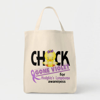 Hodgkins Lymphoma Chick Gone Violet 2 Tote Bag