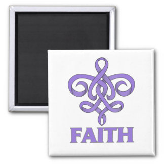 Hodgkins Lymphoma Faith Fleur de Lis Ribbon Magnet