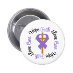 Hodgkins Lymphoma Faith Hope Love Cross Pinback Button