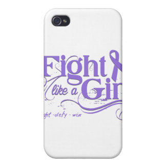 Hodgkin's Lymphoma Fight Like A Girl Elegant iPhone 4/4S Cover