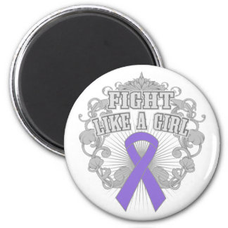 Hodgkins Lymphoma Fight Like A Girl Fleurish 6 Cm Round Magnet