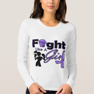 Hodgkin's Lymphoma Fight Like A Girl Silhouette Tees