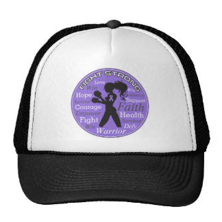 Hodgkins Lymphoma Fight Strong Motto Collage Cap