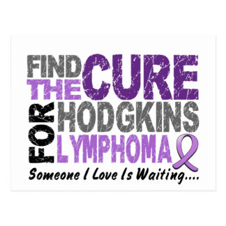 Hodgkins Lymphoma FIND THE CURE 1 Postcard