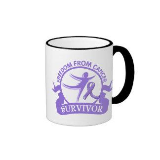 Hodgkin's Lymphoma - Freedom From Cancer Survivor Ringer Mug